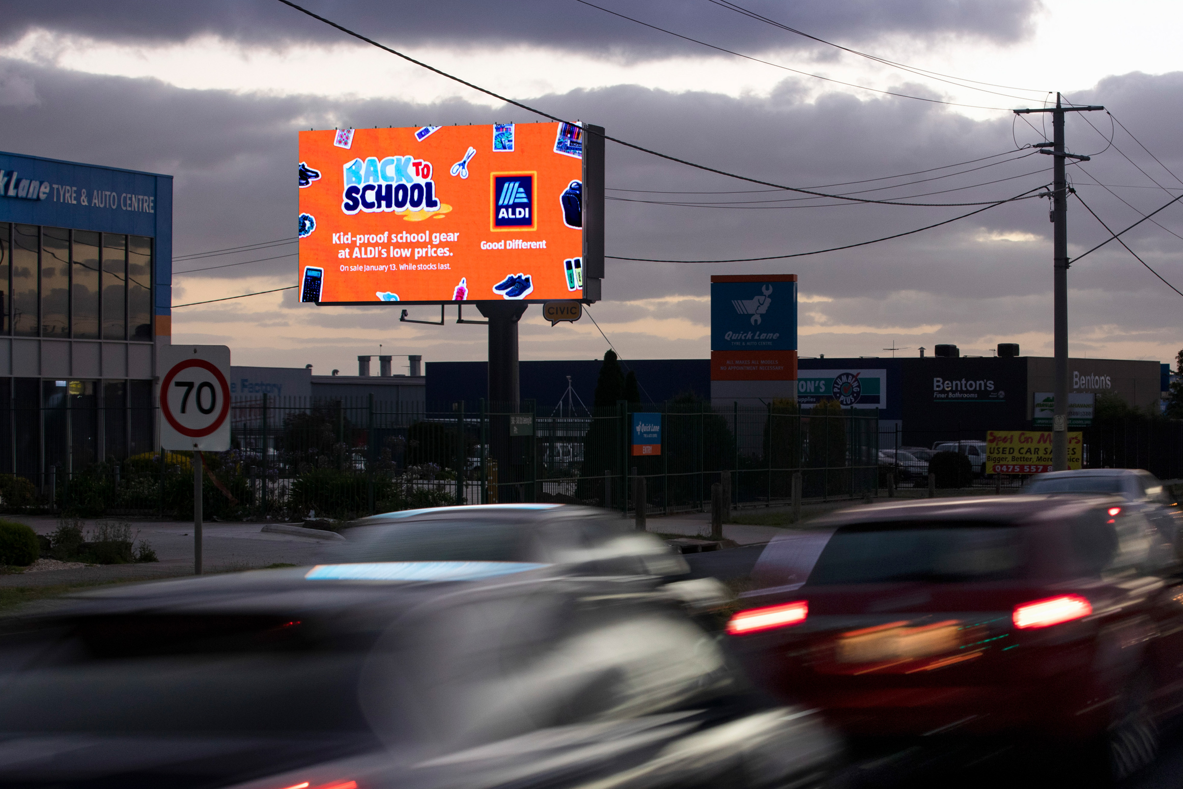 One of our many digital billboards that can be located throughout Melbourne