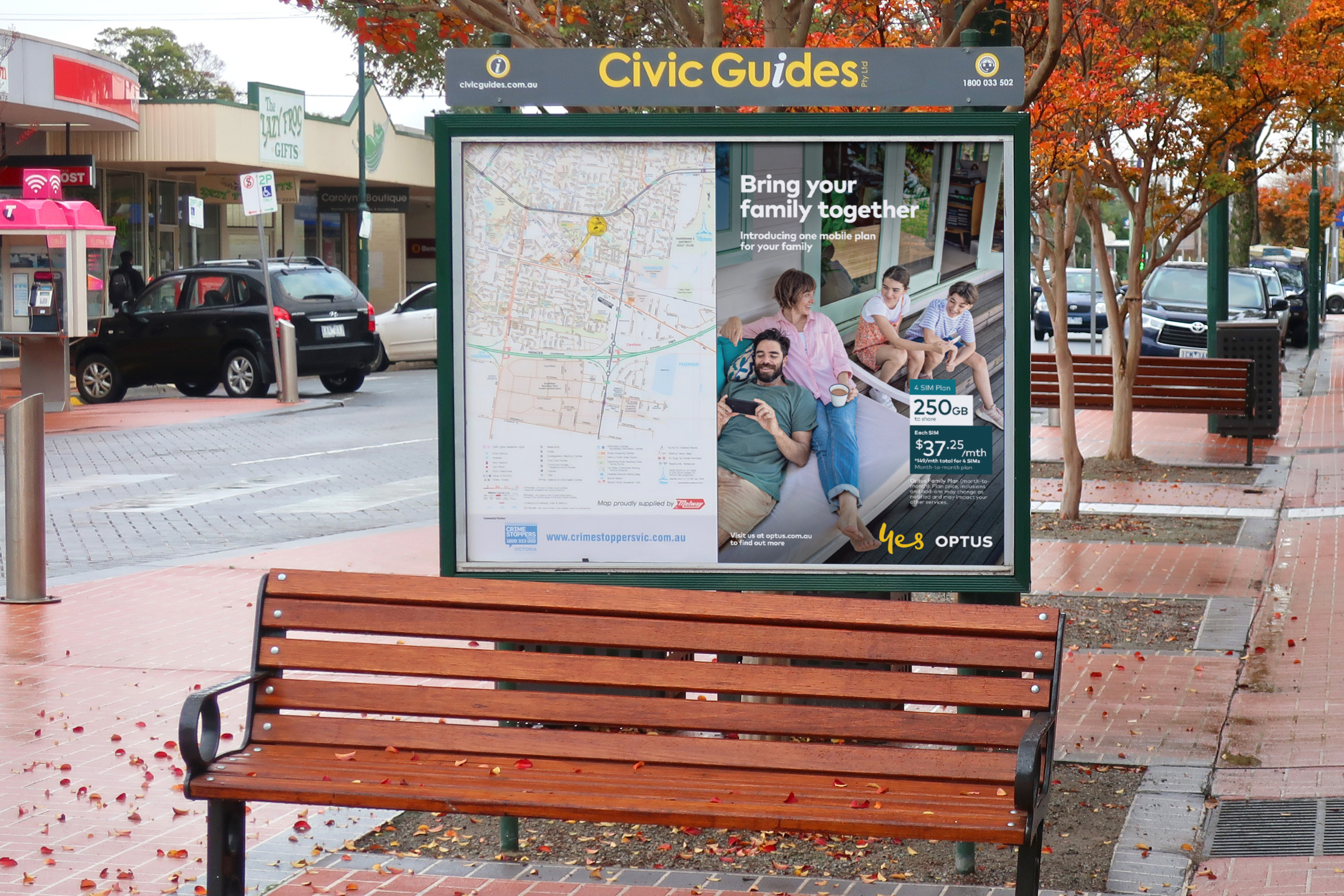 A Civic Guides example that talks to the local Australian community